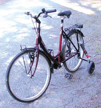 Hjælpemiddelbasen - Neba Aktiv børnecykel fra Alu Rehab ApS