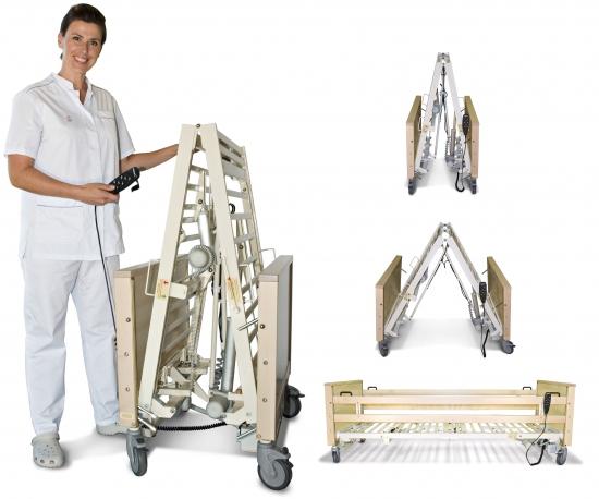 sammenklappelig seng Hjælpemiddelbasen   Kallistos Equipment   Elektrisk sammenfoldelig  sammenklappelig seng