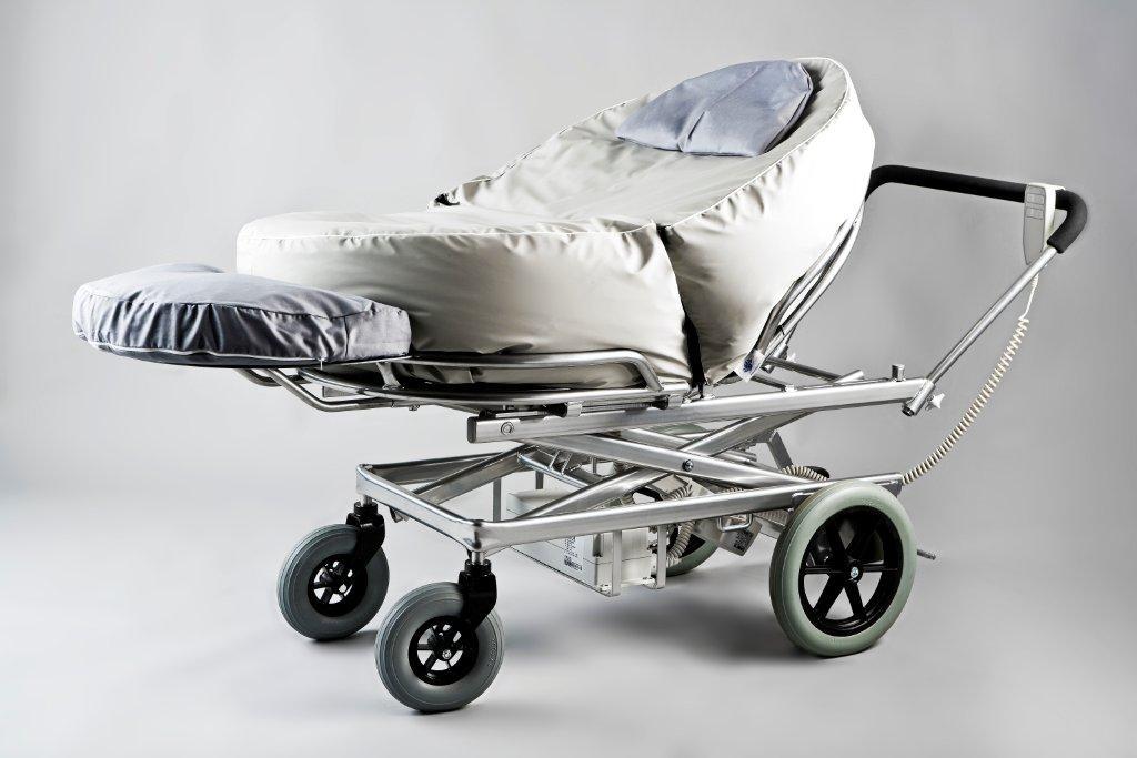 hj lpemiddelbasen mobilia transporter mt5 hvile aflastningsvogn fra lasal a s. Black Bedroom Furniture Sets. Home Design Ideas