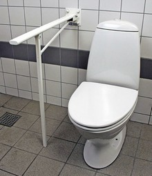 MIA toilet armrest with supporting leg, series M4