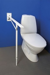 MIA toilet armrest with adaptable supporting leg, series M5