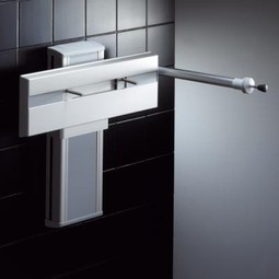 Wash basin bracket, height adjustable (electric)