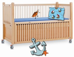Timmy 1 care cot 200/100 cm natural