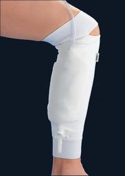 Lægfikseret urinposeholder