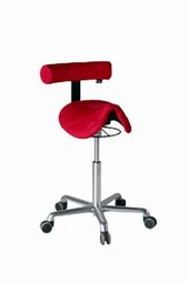 Roll Rodeo saddle chair with backrest