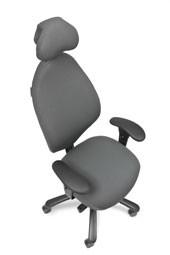 Malmstolen R7 med Dux-sæde og nakkestøtte