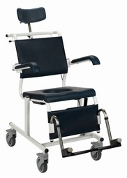 Blue Line Ergotip mobile shower/commode chair