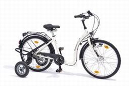 3-18 2-hjulet special cykel med støttehjul