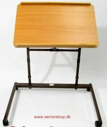Reading table with wheels