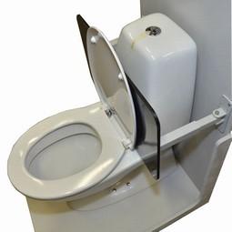 Rygskjold for toilet