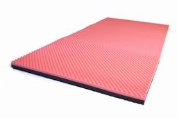 SAFE Med trykaflastende Topmadras,ROSA-GRÅ 6 cm, TUNG bruger 50-180kg