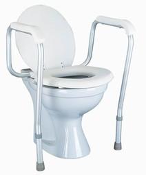 Toiletarmlæn m. gulvstøtte