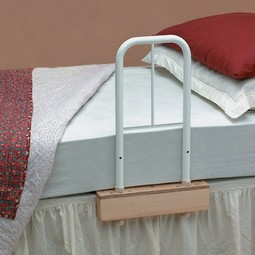 Grab handles for bed