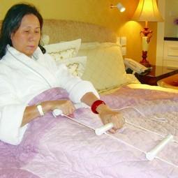 Rebstige til sengen - op at sidde