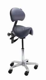 Amazone Saddle Chair medium with backrest