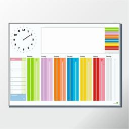 Dejlig Hjælpemiddelbasen - Whiteboard Tavle med Robust Ur fra Robust QW-93