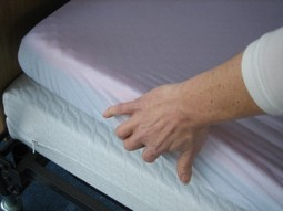 Soft-Cell cover for overlay mattresses