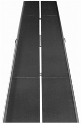 Foldable access ramp with slip-resistant surface