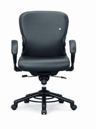 Interstuhl XXXL stol, medium, sort fod