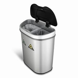 Affaldsbeholder, sensorstyret, opdelt i 2 sorteringsrum