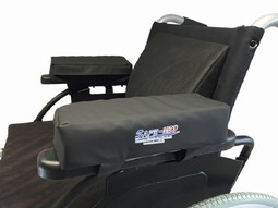 Arm cushions for armrest on wheel-chair, pressure relieving