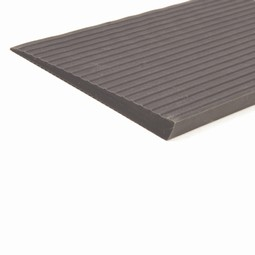 Rubber ramp with adhesive