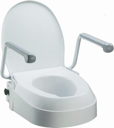 Toiletraiser with armrests, adjustable hight