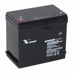 Vision Blybatteri 12 volt 55Ah til Elscooter & kørestole