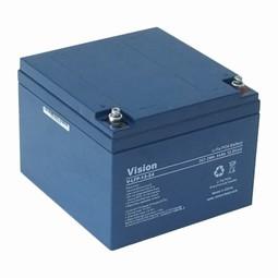 Vision Blybatteri 12 volt 24Ah til golfvogne og kørestole
