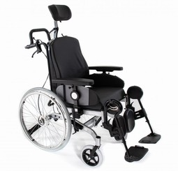 Wheelchair with seat and back tilt