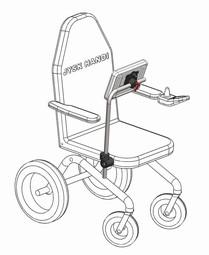Computerarm til kørestol Type 1