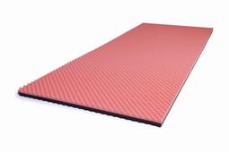 SAFE Med trykaflastende Topmadrasser,ROSA-GRÅ 4cm, overvægt 80-130kg