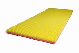 SAFE Med trykaflastende Topmadrasser, GUL-ROSA 6 cm, brug op til 130kg
