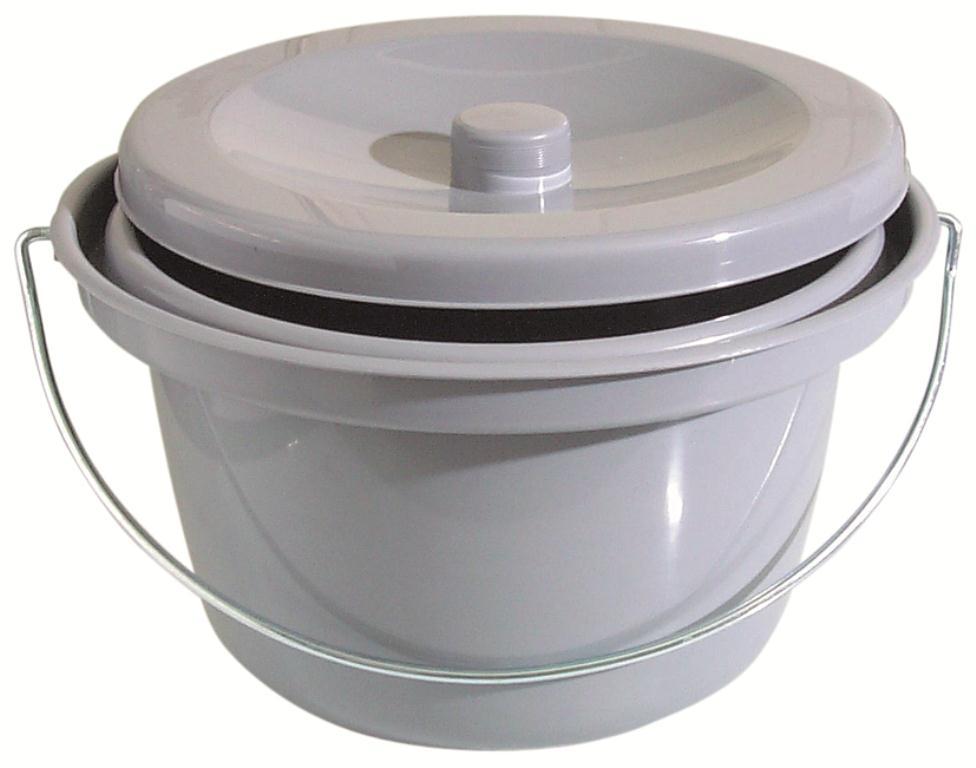 Assistdata Toilet Bucket In Grey From Rolko Scandinavia Aps