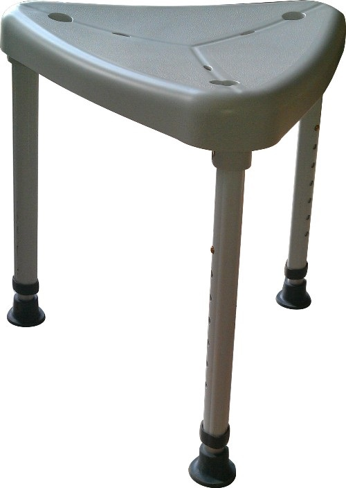 AssistData - Triangular shower stool from Faaborg Rehab Technic ApS