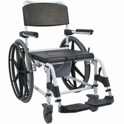 Toilet chair with big wheels  - example from the product group commode wheelchairs