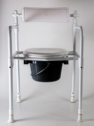 Bath and toilet chair, collapsible  - example from the product group commode shower chairs without castors