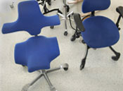 Photo of different types of work chairs and office chairs.